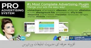 افزونه حرفه ای مدیریت تبلیغات وردپرس